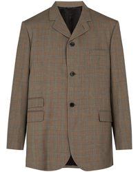 Raf Simons - Checked Wool Oversized Blazer - Lyst