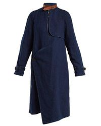 JW Anderson - Asymmetric Neck-strap Denim Coat - Lyst