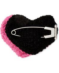 Prada Pierced Heart Mohair Brooch - Multicolour