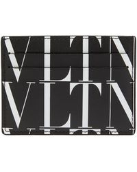 Valentino Garavani Vltn レザーカードケース - ブラック