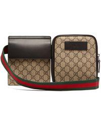Gucci GG Supreme Web-striped Belt Bag - Natural