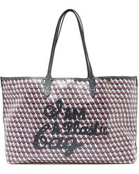 Anya Hindmarch I Am A Plastic Bag Recycled-canvas Tote Bag - Blue