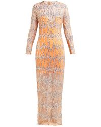 Ashish Sequinned Round-neck Maxi Dress - Natural