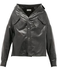 Balenciaga スラウチー レザージャケット - ブラック