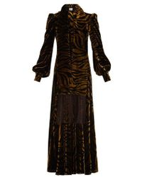 Hillier Bartley - Plimpton Zebra-print Panelled Velvet Dress - Lyst