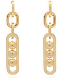 Prada Chain-link Drop Earrings - Metallic