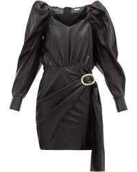 Dodo Bar Or Mona クリスタルバックル レザードレス - ブラック