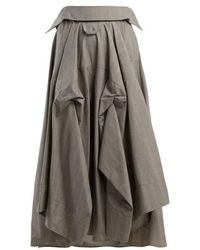 Awake - - Checked Cotton Culottes - Womens - Grey - Lyst
