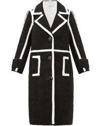 Stand Studio Kenzie Patent-edged Faux-shearling Coat - Black