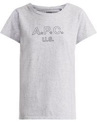 A.P.C. | Us Star Logo Cotton-blend Jersey T-shirt | Lyst