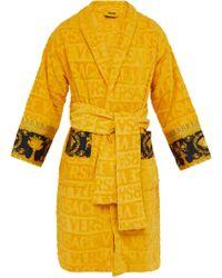b0ea41ffdfc Versace - Peignoir en coton à jacquard logo I Love Baroque - Lyst