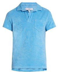 Orlebar Brown - Terry-towelling Cotton Polo Shirt - Lyst