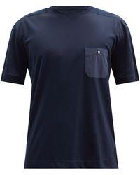 Zimmerli Cotton-blend Jersey T-shirt - Blue