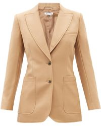 Bella Freud St James Wool Cavalry-twill Suit Jacket - Natural