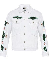 Isabel Marant - Jango Embroidered Denim Jacket - Lyst