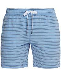 Onia Charles Striped Swim Shorts - Blue