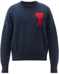 AMI De Coeur コットンブレンドセーター - ブルー