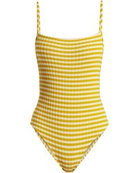 Solid & Striped - The Chelsea Striped Ribbed Swimsuit - Lyst