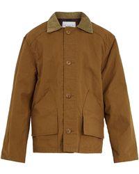 Raey - Contrast Collar Cotton Fishing Jacket - Lyst