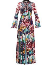 Mary Katrantzou Desmine Pleated Baroque-print Crepe Dress - Multicolour