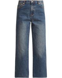 A.P.C. Sailor High-rise Cropped Jeans - Blue