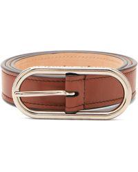Acne Studios Masculine Logo-buckle Leather Belt - Brown