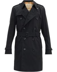 Burberry The Mid-length Kensington Heritage Trench Coat - Black