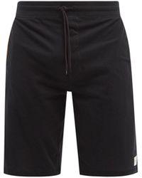 Paul Smith Artist-stripe Cotton-jersey Pajama Shorts - Black