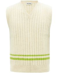 Molly Goddard Ralph Cable-knit Wool Sleeveless Sweater - Multicolour