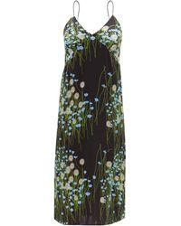 BERNADETTE フローラル シルクブレンドサテンナイトドレス - マルチカラー