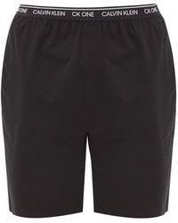Calvin Klein Cotton-blend Jersey Pyjama Shorts - Black