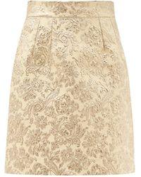 Dolce & Gabbana フローラルブロケード ミニスカート - マルチカラー