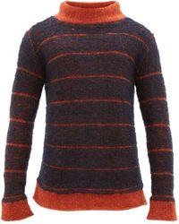 Eckhaus Latta ボーダー モックネックセーター - マルチカラー
