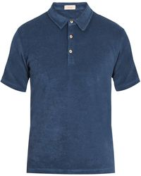 Altea   French Terry-towelling Polo Shirt   Lyst