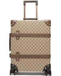 Gucci X Globe Trotter Gg Supreme Cabin Size Case - Multicolour