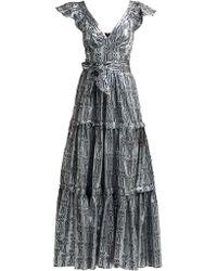Temperley London - Robe de soirée en lamé de fil coupé Eliska - Lyst