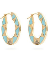 Marc Alary - Diamond, Turquoise & Yellow-gold Earrings - Lyst