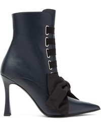 Tabitha Simmons Farren Lace-up Leather Boots - Black