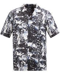Ksubi スプラッシュ バック プリント テンセルシャツ - ブラック