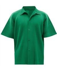 Homme Plissé Issey Miyake Homme Plissé Issey Miyake ショートスリーブシャツ - グリーン