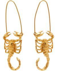 Givenchy Scorpio Zodiac Hoop Earrings - Multicolour