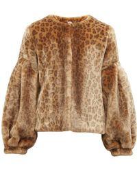 1a3f20032fb8 Ganni Women's Ferris Faux Fur Jacket - Lyst