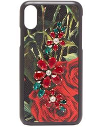 Dolce & Gabbana - Crystal Embellished Rose Print Iphone® X Case - Lyst
