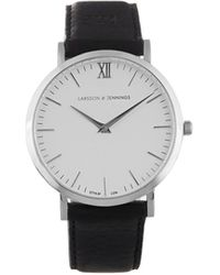 Larsson & Jennings Lugano Stainless-steel And Leather Watch - Metallic