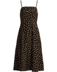HVN - Nora Moon-print Silk Slip Dress - Lyst