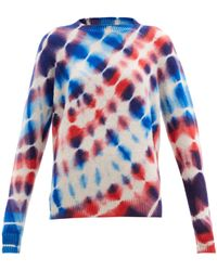 The Elder Statesman Radiate Tie-dye Cashmere Sweater - Blue
