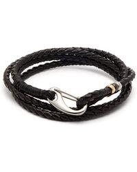 Paul Smith Braided Leather Wrap Bracelet