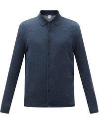 Paul Smith Cardigan en laine mérinos à motif Artist Stripe - Bleu
