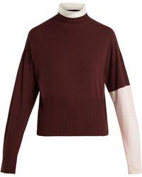 Sportmax - Plava Tricolour Sweater - Lyst
