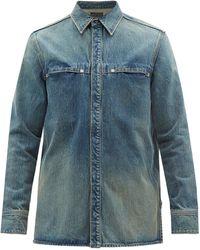 Givenchy 4gプレート デニムシャツ - ブルー